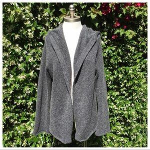 Eileen Fisher Charcoal Grey Wool/Mohair Cardigan M